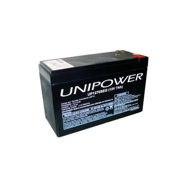 Oferta de Bateria Selada Para Nobreak e Sistemas de Monitoramento e Segurança - 12V / 7Ah - Unipower UP1270SEG por R$96,89