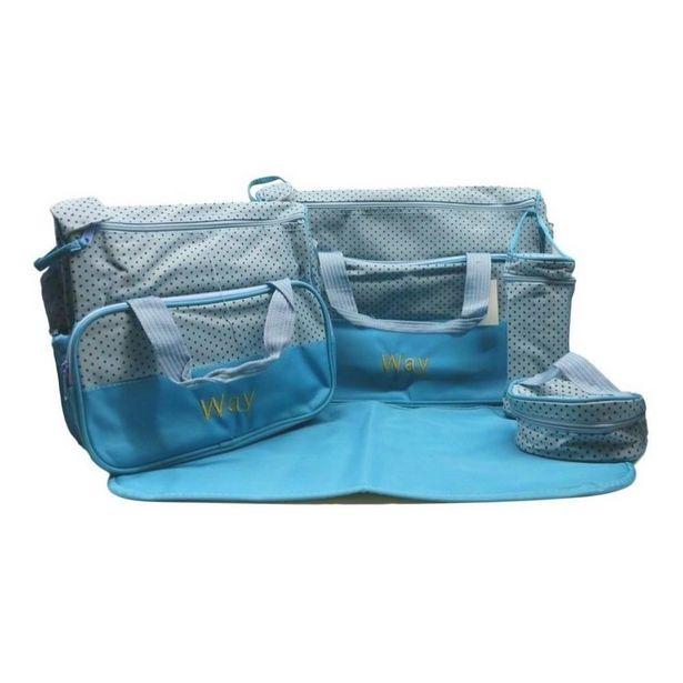 Oferta de Kit Bolsa Maternidade Importway Iwkbmaz - Azul por R$119,9