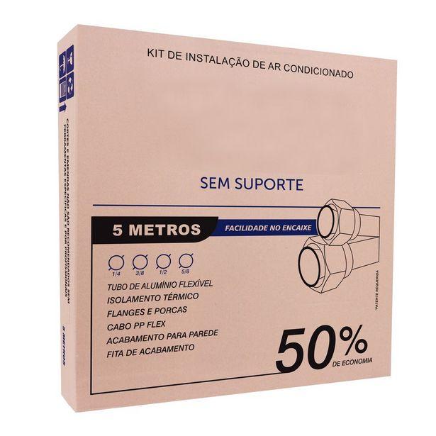 Oferta de KIT Instalação Ar Condicionado Split 12/18.000 Btus - 5 Metros Aluminio Sem Suporte por R$159,9