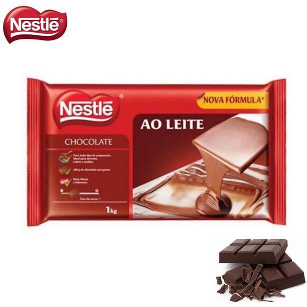 Oferta de Barra de Chocolate Nestlé Ao Leite 1 Kilo Para Derreter por R$55,52