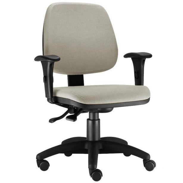 Oferta de Cadeira Giratória Job Executiva Ergonomica Escritório Suede Bege - Lyam Decor por R$599,9
