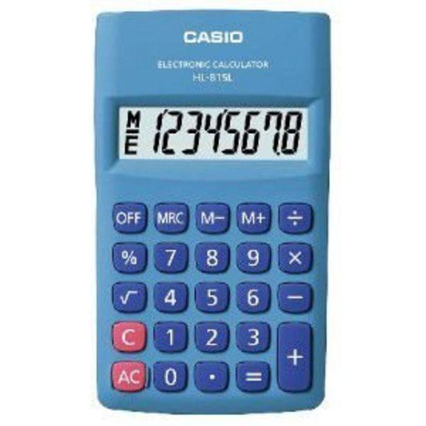 Oferta de Calculadora de Bolso 8 Digitos HL-815L-BU-S AZUL por R$29,9