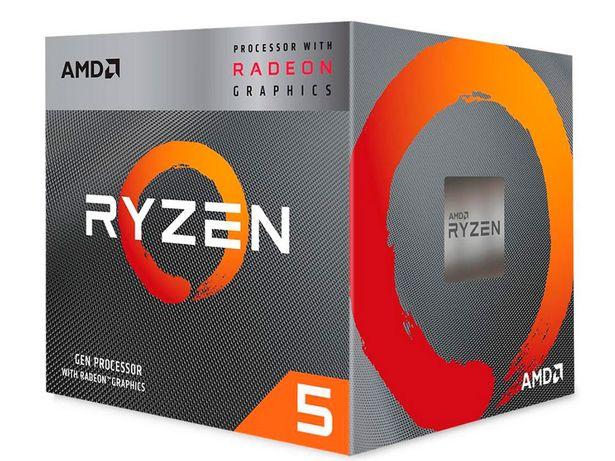 Oferta de Processador AMD Ryzen 5 3400G 3.7GHz (4.2GHz Max Turbo) Cache 6mb AM4 YD3400C5FHBOX por R$1392,1
