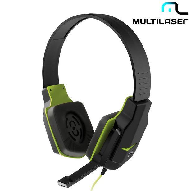 Oferta de Headset Gamer Multilaser PH146 Com Cancelamento de Ruído, Controle de Volume, Haste Ajustável, Microfone Retrátil, Verde por R$70,9