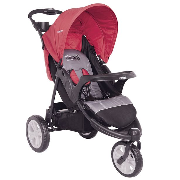 Oferta de Carrinho de Bebê Lenox Fox Com Bandeja Vermelho por R$559