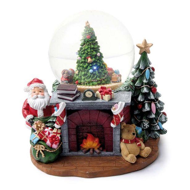 Oferta de Globo De Neve Musical Pinheiro Decoração Natal Colorido por R$599,9