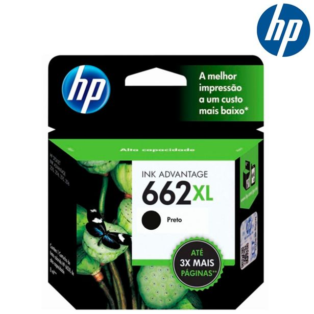 Oferta de Cartucho de Tinta HP 662XL Preto por R$105,1