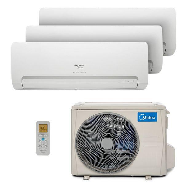 Oferta de Ar Condicionado Multi Tri Split Hw Inverter Springer Midea 2X12000 1X18000 Btus Quente/Frio 220V 38MBMA36M5 por R$12499