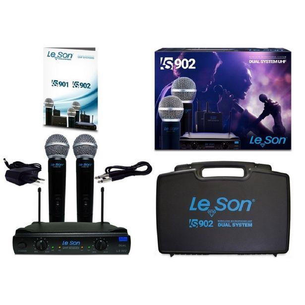Oferta de Microfone S/ Fio de Mão Duplo UHF - LS 902 HT HT Le Son por R$987,58
