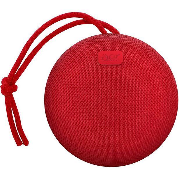 Oferta de Caixa de Som Sem Fio AER Geonav Vermelha AERCX01R por R$174,9
