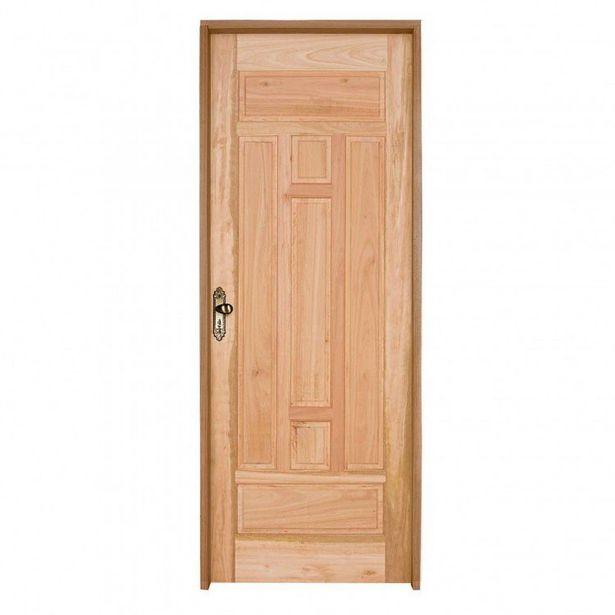 Oferta de Kit Porta de Madeira PE27 Esel 213cmx94,5cmx12cm Eucalipto por R$1099,9