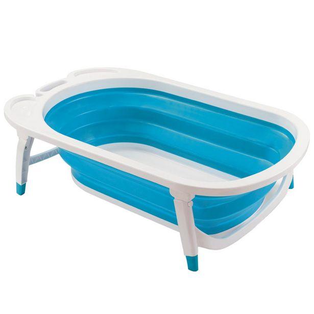 Oferta de Banheira Dobrável Flexi Bath Multikids Baby Azul por R$218,41