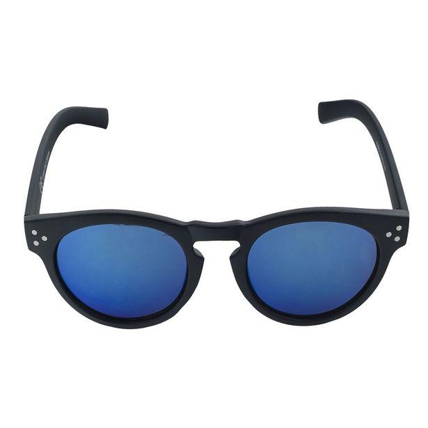 Oferta de Óculos de Sol Round Young Preto Azul por R$59,9