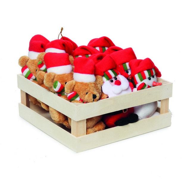 Oferta de Enfeite Papai Noel Rena P/ Pendurar Árvore Natal 12 Pçs Vermelha por R$369,9