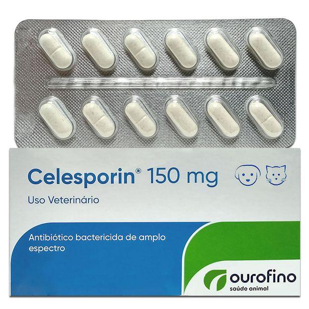 Oferta de Celesporin 150mg - 12 Comprimidos Cartela Avulsa + Bula por R$29,99
