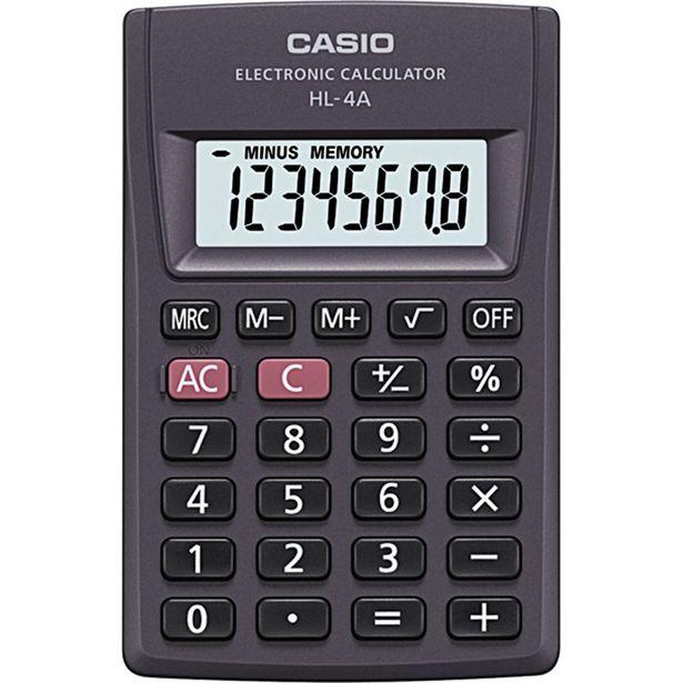 Oferta de Calculadora Com 8 Dígitos Casio HL-4A Preta por R$19,9