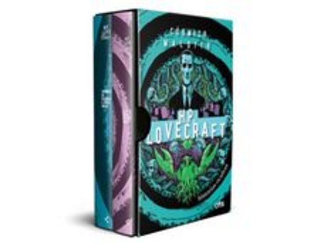 Oferta de Box Cósmico Maldito: Histórias Ocultas De H.P. Lovecraft - (pôster + Marcador + Suplemento + 2 Cartões-postais) por R$29,9