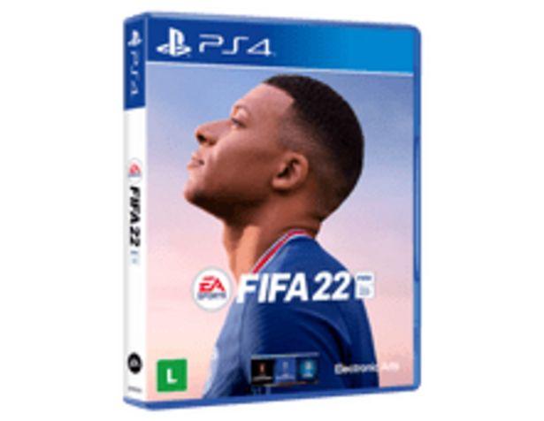 Oferta de FIFA 22 BR PS4 por R$299,9