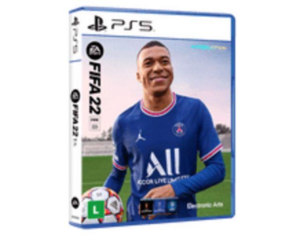 Oferta de FIFA 22 BR PS5 por R$369,9