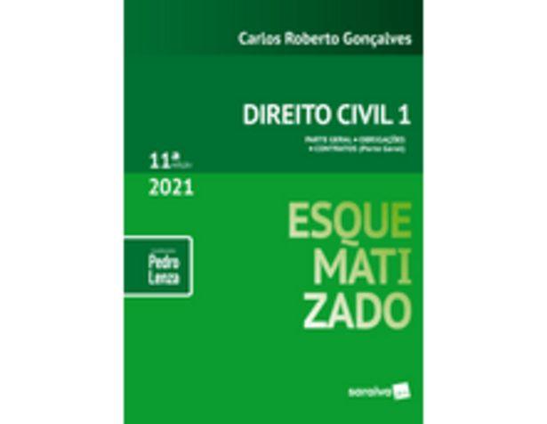 Oferta de Direito Civil Esquematizado - Vol.1 - 11ª Edição 2021 por R$167,9
