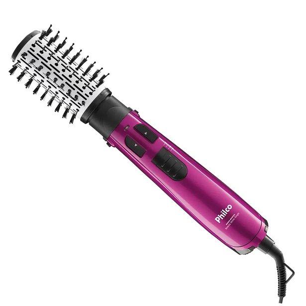 Oferta de Escova Secadora Rotativa Philco Beauty Shine 2 Velocidades 1100W - Pink por R$232