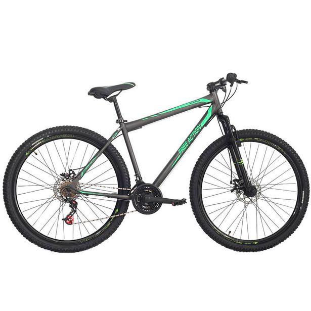 Oferta de Bicicleta Aro 29 Status Bikes Flexus 21 MarchasFreio a Disco - Grafite/Verde por R$1060