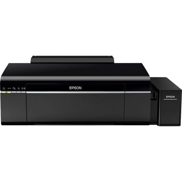 Oferta de Impressora Fotográfica Epson Ecotank L805 Colorido WiFi - Preto por R$2933