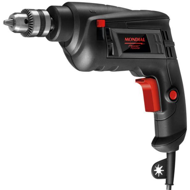Oferta de Furadeira de Impacto Mondial Power Tools 3/8 Polegadas 550W FI-09 - Preto por R$120