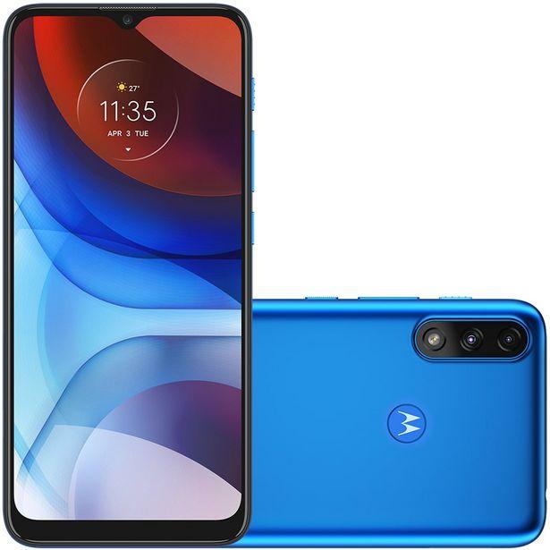 """Oferta de Smartphone Motorola E7 Power 6.5"""" Octa Core 32GB 2GB Câmera Dupla - Azul por R$1391"""