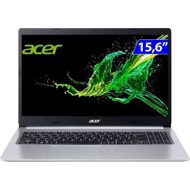 """Oferta de Notebook Acer Aspire 5 i5 Linux Endless 4GB 256GB SSD 15.6"""" A5155-54-557C - Prata por R$4528"""