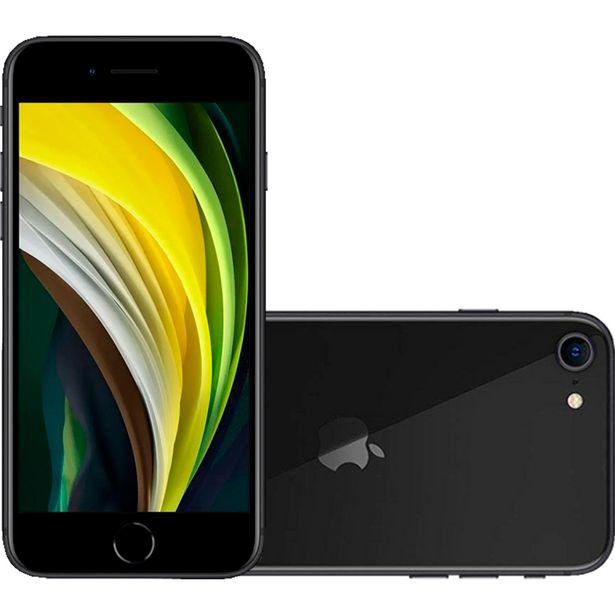"Oferta de IPhone SE Apple 4.7"" A13 Bionic 64GB 3GB Câmera 12MP - Preto por R$4145"