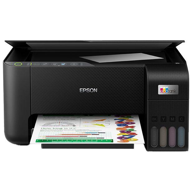 Oferta de Impressora Multifuncional Jato de Tinta Epson Ecotank L3250 Colorido Wi-Fi - Preto por R$1550