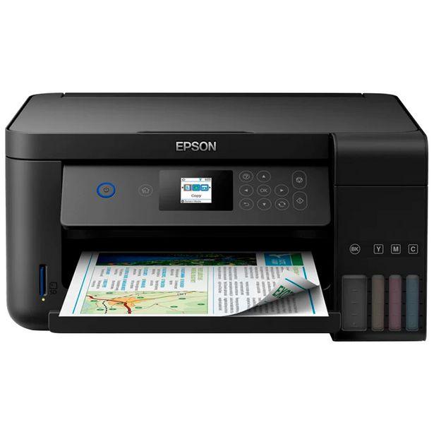 Oferta de Impressora Multifuncional Epson EcoTank L4160 Colorido WiFi Duplex - Preto por R$1866