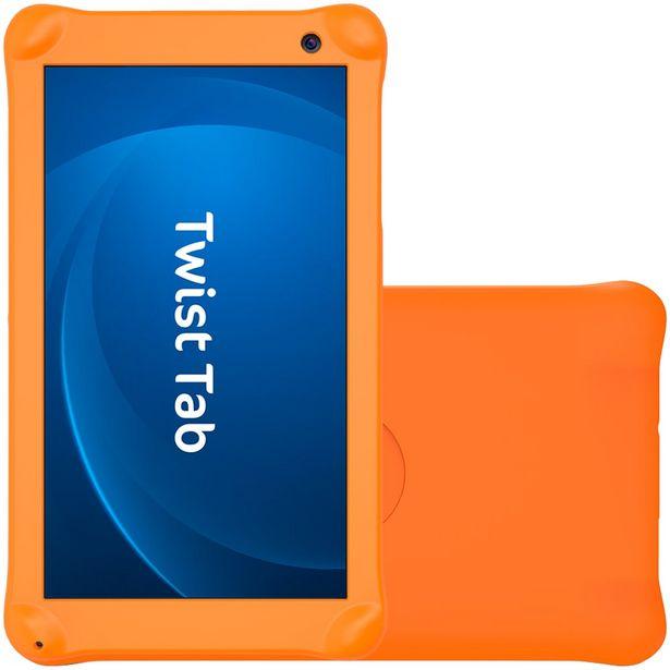 "Oferta de Tablet Positivo Twist TabKids 7"" 32GB 1GB Quad Core 1.5GHz Android T770KC - Preto por R$615"