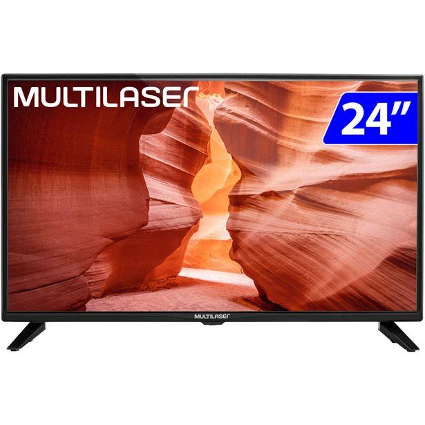 "Oferta de TV Monitor Multilaser LED 24"" HD HDMI RCA 30Hz TL021 - Preto por R$739"