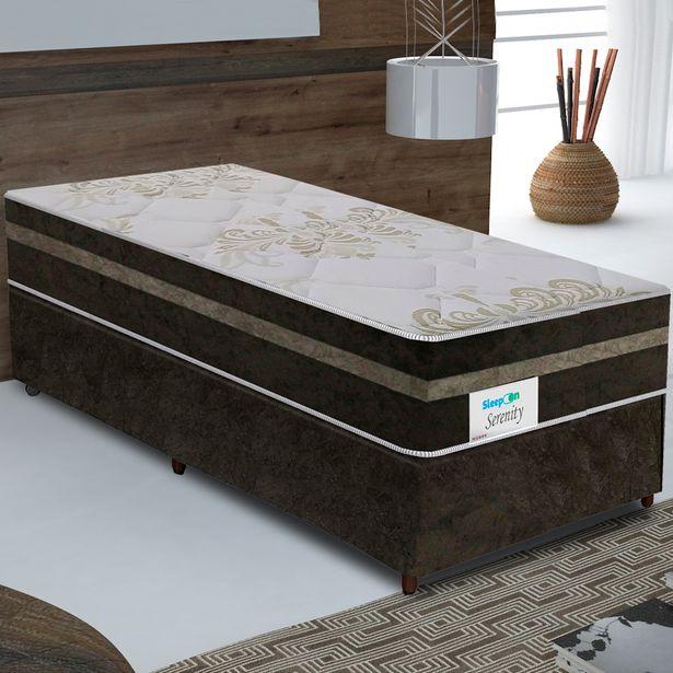 Oferta de Colchão Cama Box Sleep On Molas Ensacadas Solteiro 88x188 Serenity - Marrom por R$934