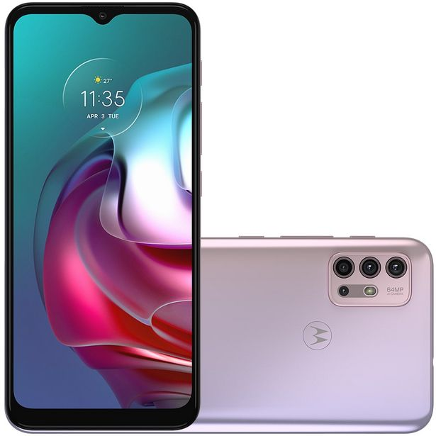 "Oferta de Smartphone Motorola Moto G30 6.5"" Octa Core 128GB 4GB Câmera Quádrupla - Branco por R$2404"