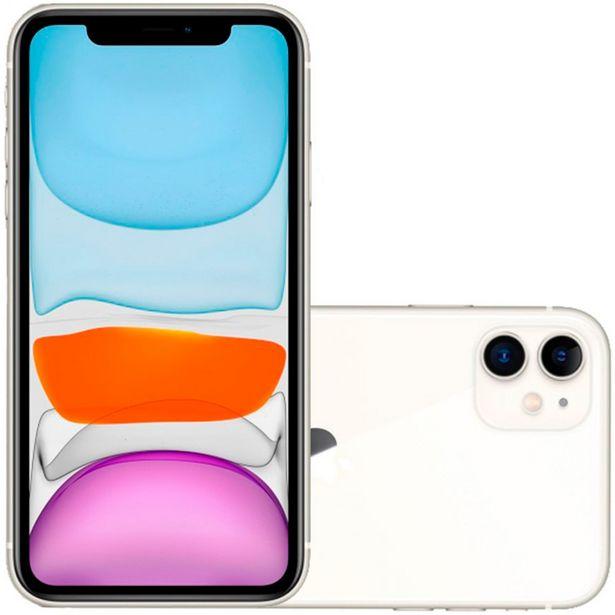 "Oferta de IPhone 11 Apple 6.1"" iOS 13 128GB Câmera Dupla - Branco por R$7024"