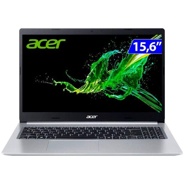 """Oferta de Notebook Acer Aspire 5 i5 Linux 4GB 256GB SSD 15,6"""" A515-54-5526 - Cinza por R$4614"""