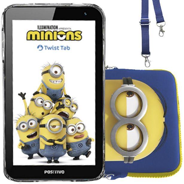 "Oferta de Tablet Positivo Minions 7"" 32GB 1GB Quad Core 1.5GHz Android T770KC - Preto por R$621"
