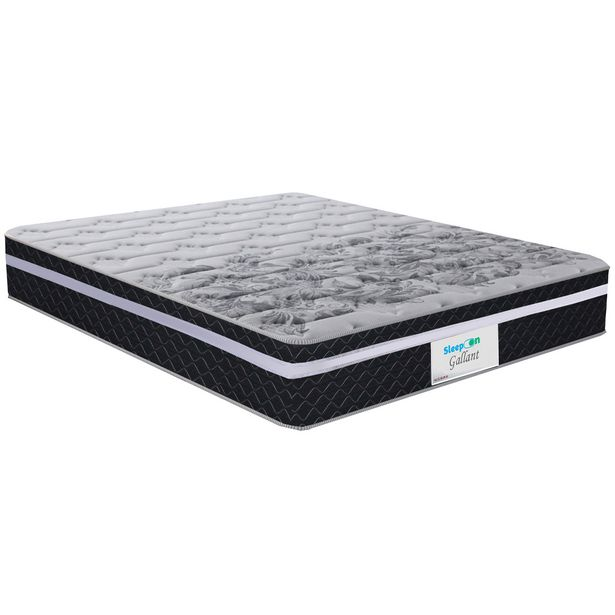 Oferta de Colchão Casal de Molas Ensacadas Sleep On Gallant 138x188 Até 120kg - Preto por R$938