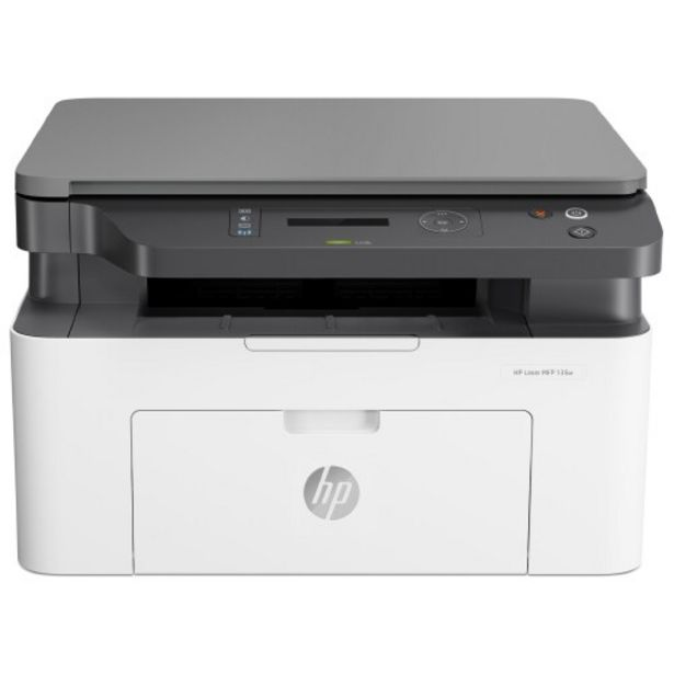 Oferta de Impressora Multifuncional a Laser HP MFP 135W Monocromático WiFi - Branco/Preto por R$1915
