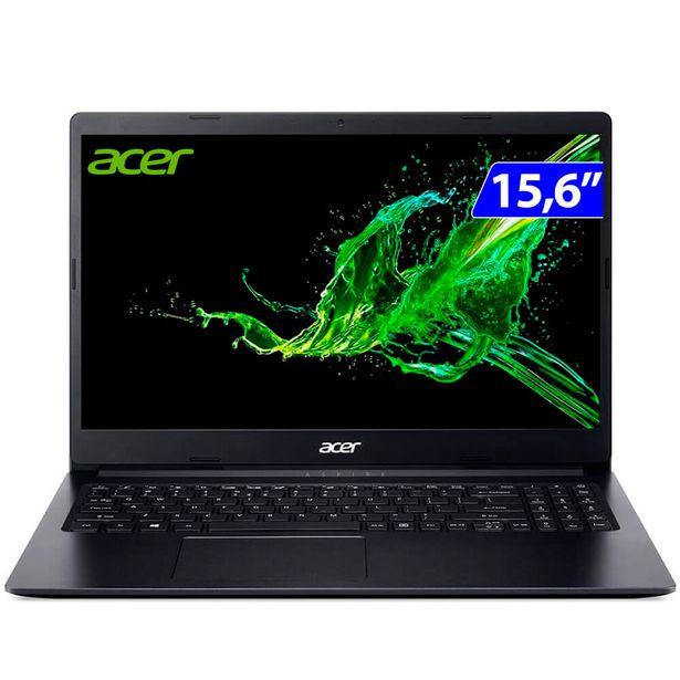 """Oferta de Notebook Acer Aspire 3 Ryzen 5 3500U W10 8GB 1TB HD 15.6"""" A315-23-R24V - Preto por R$4495"""
