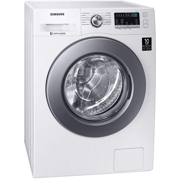 Oferta de Lava e Seca Samsung Front Load 11kg Lavagem Rápida Cesto Inox - Branco por R$4269
