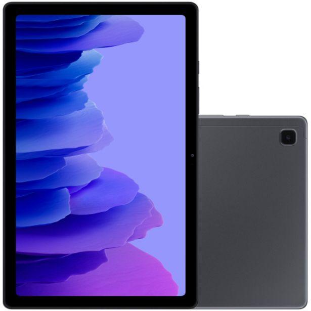 """Oferta de Tablet Samsung Tab A7 10.4"""" 64GB 3GB Octa Core 2GHz Android SM-T505NZDQZTO - Grafite por R$2008"""