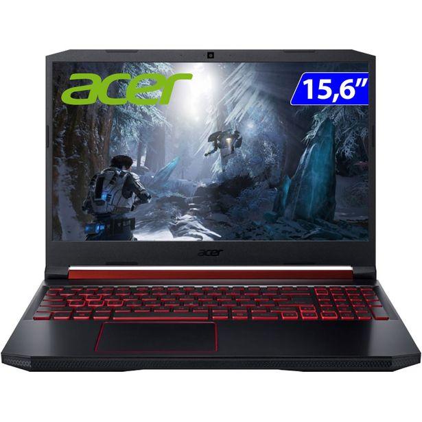 """Oferta de Notebook Gamer Acer Nitro 5 Ryzen 7 Endless OS 8GB 128GB SSD 15.6"""" AN515-43-R4C3 - Preto/Vermelho por R$6627"""