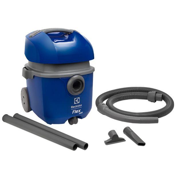 Oferta de Aspirador Electrolux Flexn Pó e Água Dreno Escoa Fácil 1400W - Azul por R$346
