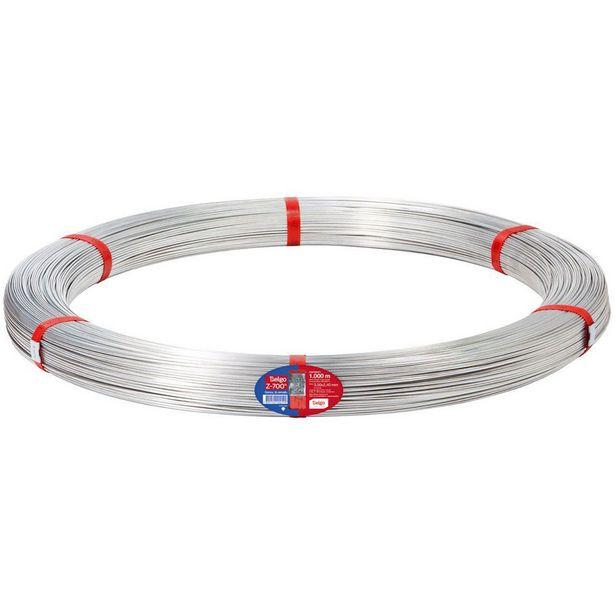 Oferta de Arame Liso para Cerca de Aço Zincado Ovalado Belgo 1000m 15x17 Z-700 - Sem Cor por R$999