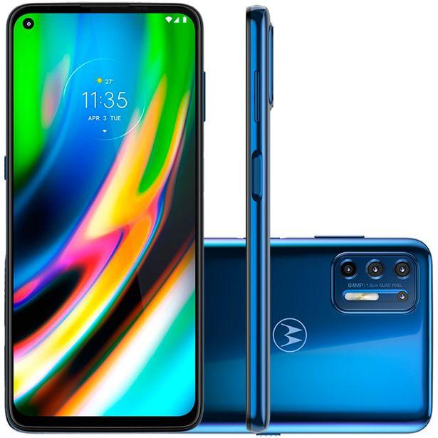 """Oferta de Smartphone Motorola Moto G9 Plus 6.8"""" Octa Core 128GB 4GB Câmera Quádrupla - Azul por R$3164"""