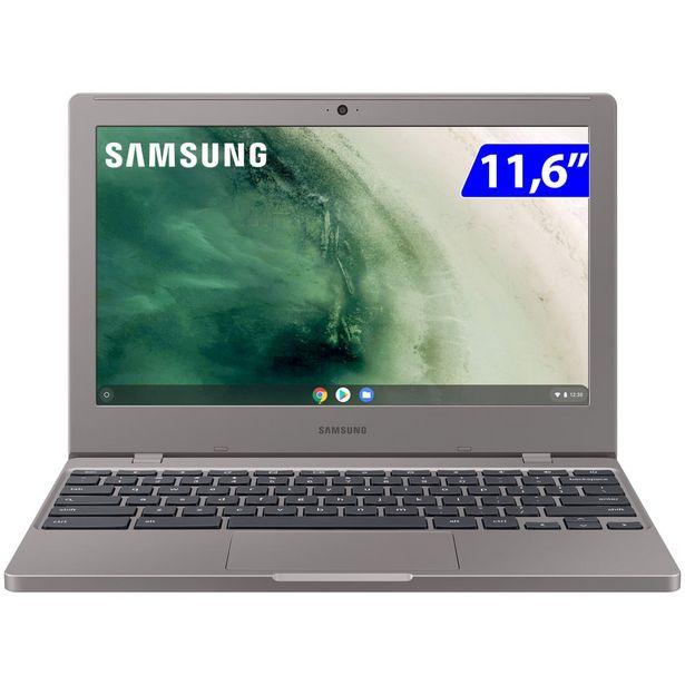 """Oferta de Notebook Samsung Chromebook 4 Intel Celeron Chrome OS 4GB 32GB 11.6"""" - Prata por R$2323"""